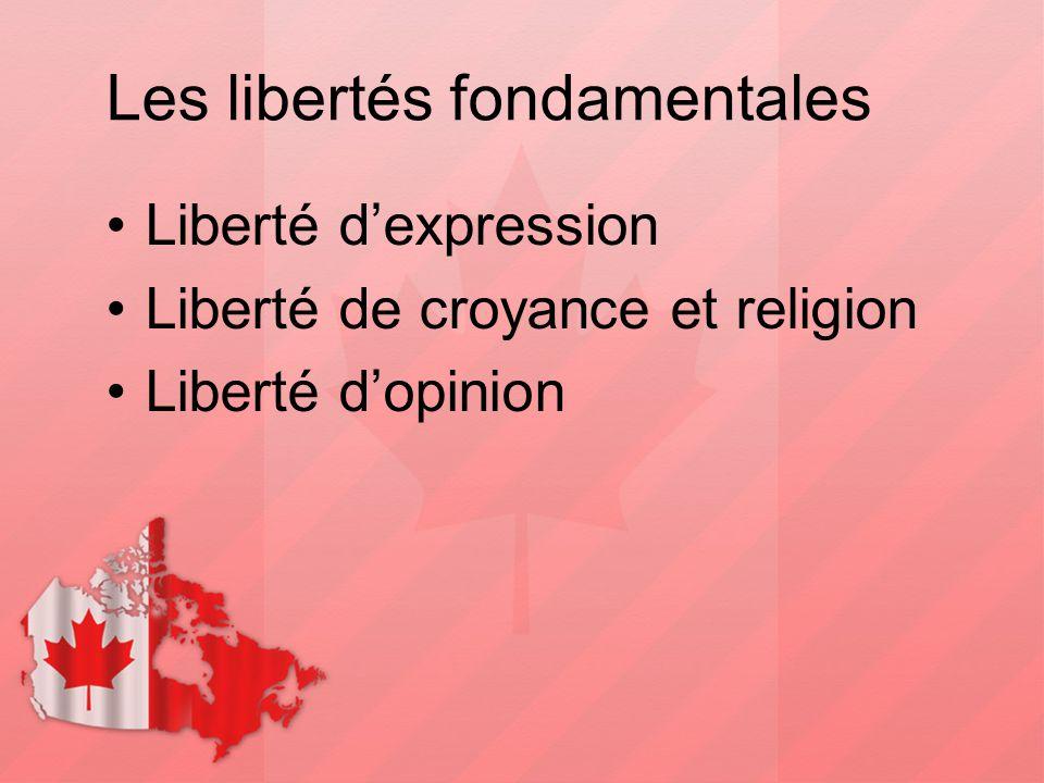 Les libertés fondamentales