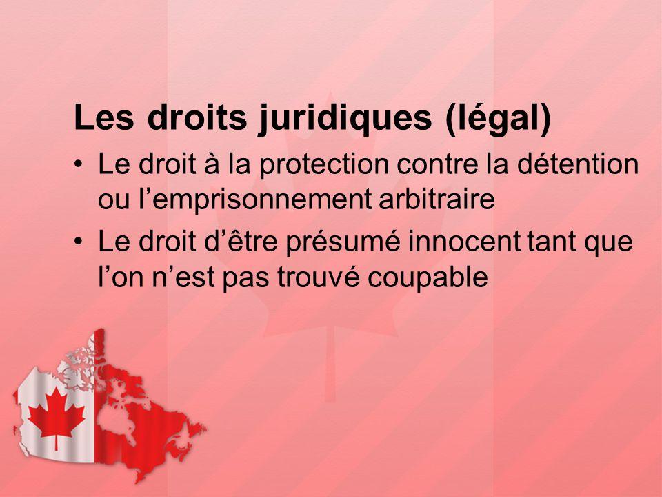 Les droits juridiques (légal)