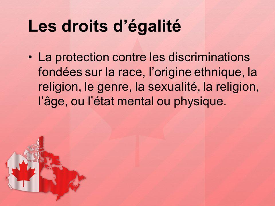 Les droits d'égalité