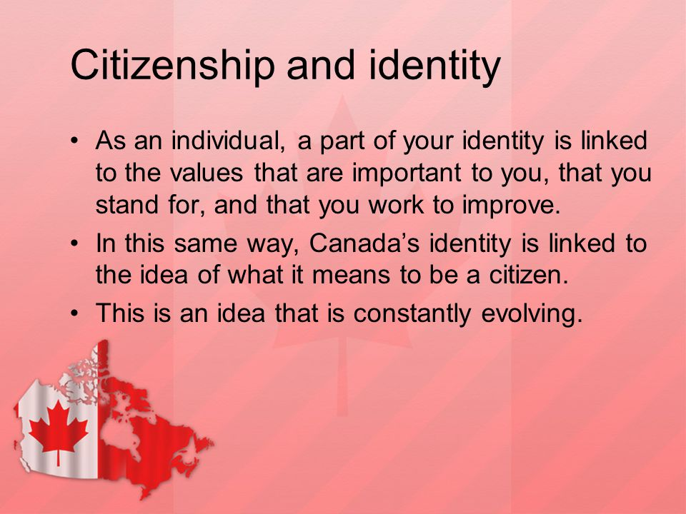 Citizenship and identity