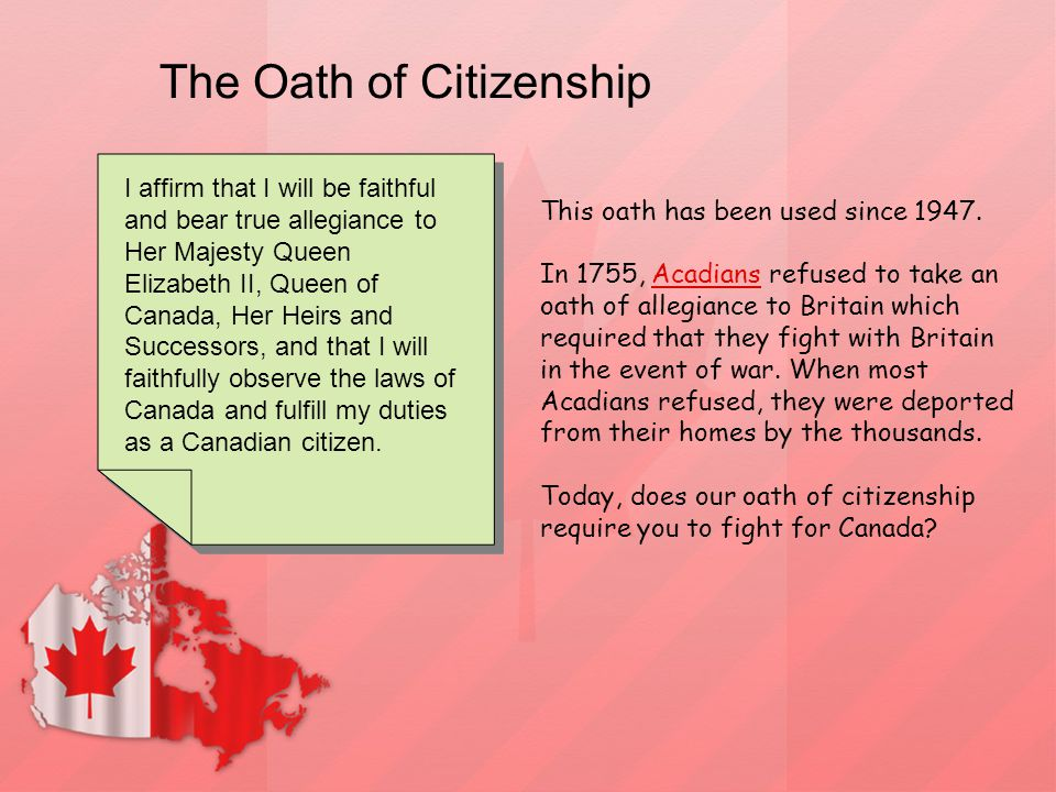 The Oath of Citizenship