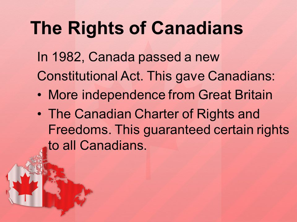 The Rights of Canadians