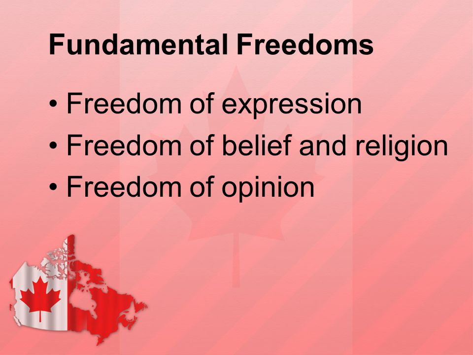 Fundamental Freedoms Freedom of expression Freedom of belief and religion Freedom of opinion