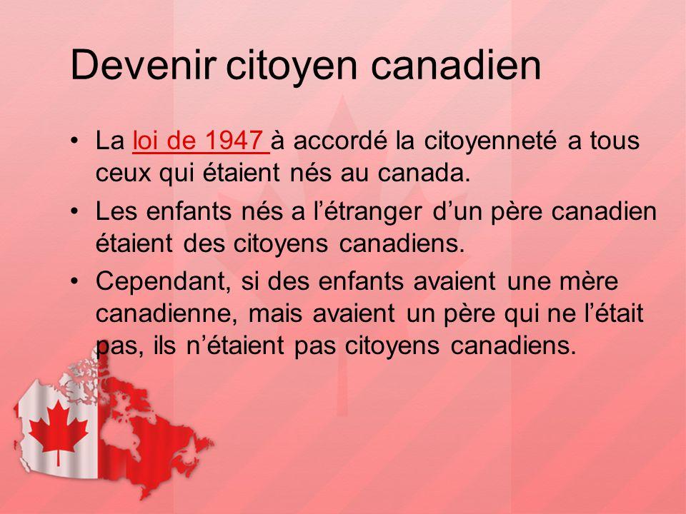 Devenir citoyen canadien