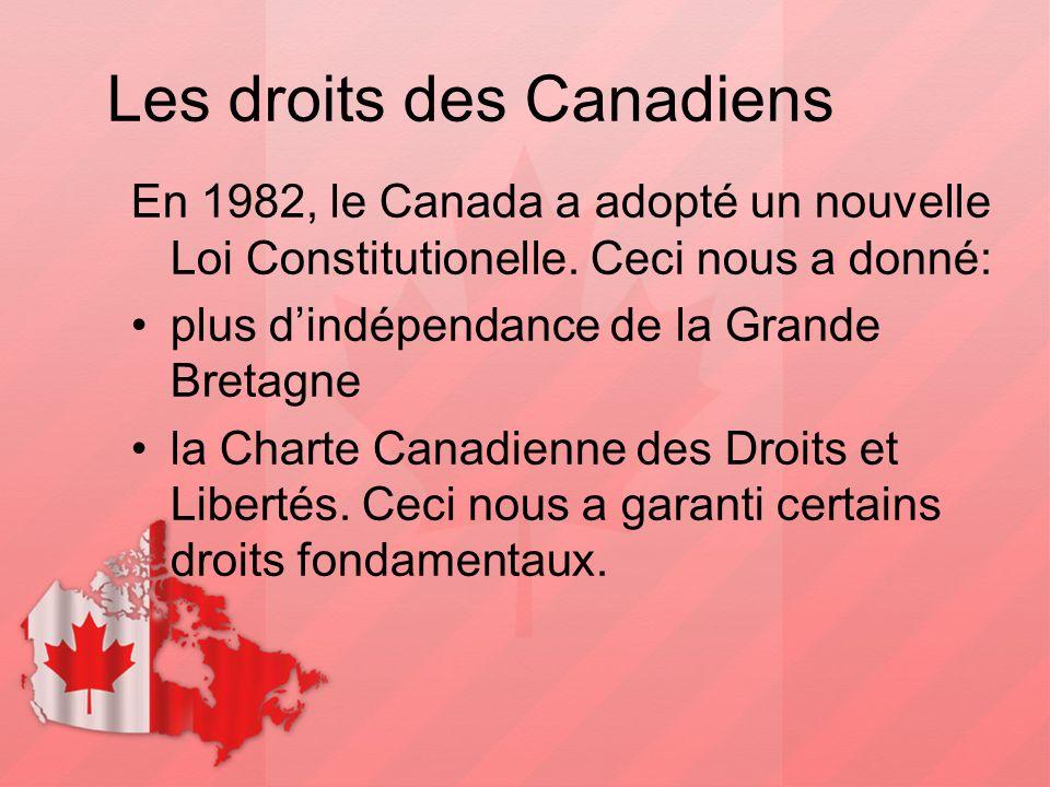 Les droits des Canadiens