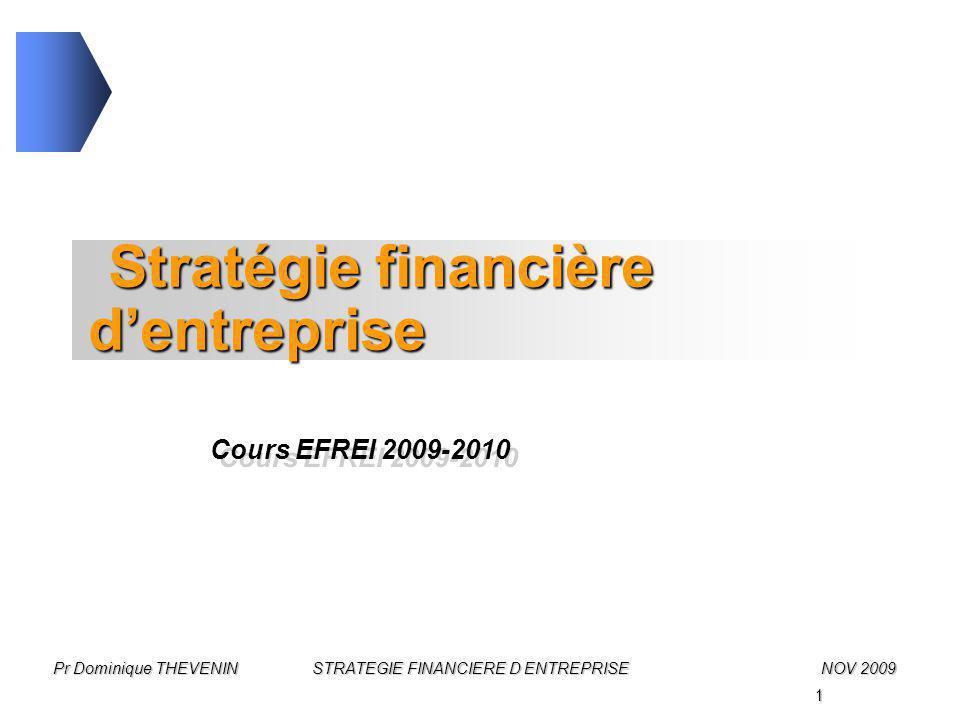 Stratégie financière d'entreprise