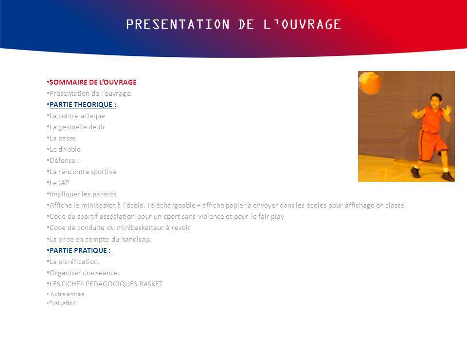 PRESENTATION DE L'OUVRAGE