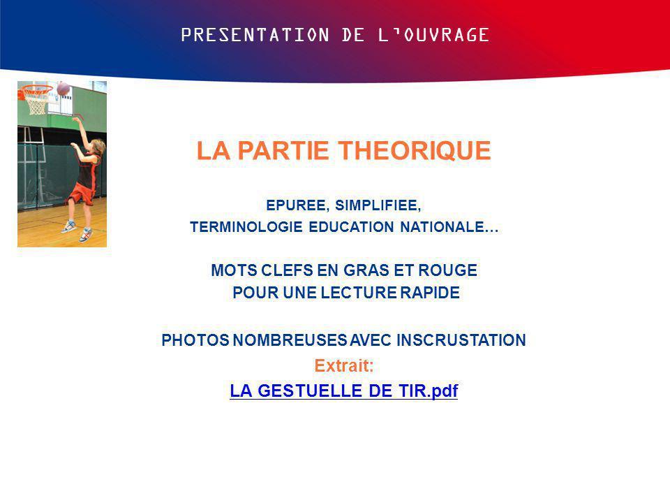 LA PARTIE THEORIQUE PRESENTATION DE L'OUVRAGE Extrait: