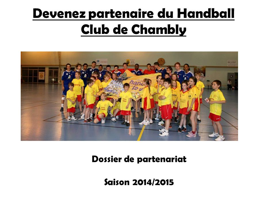 Devenez partenaire du Handball Club de Chambly