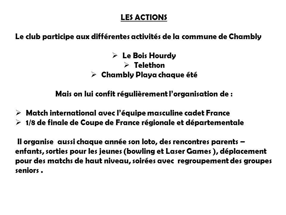 Le club participe aux différentes activités de la commune de Chambly