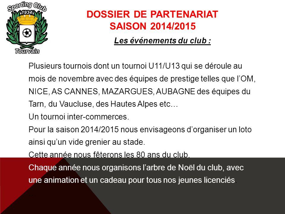DOSSIER DE PARTENARIAT Saison 2014/2015