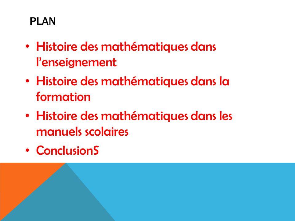 Histoire des mathématiques dans l'enseignement