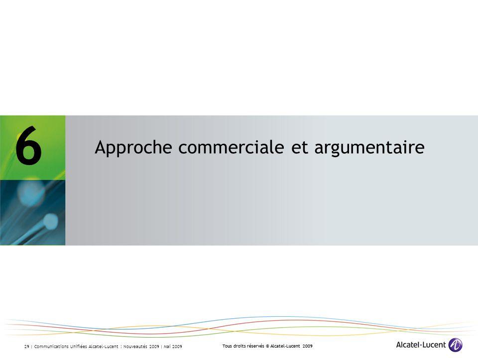 6 - Approche commerciale et argumentaire
