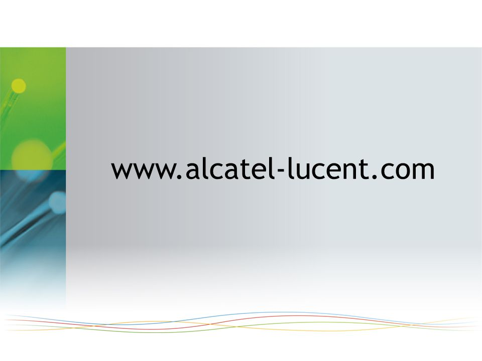 www.alcatel-lucent.com www.alcatel-lucent.com