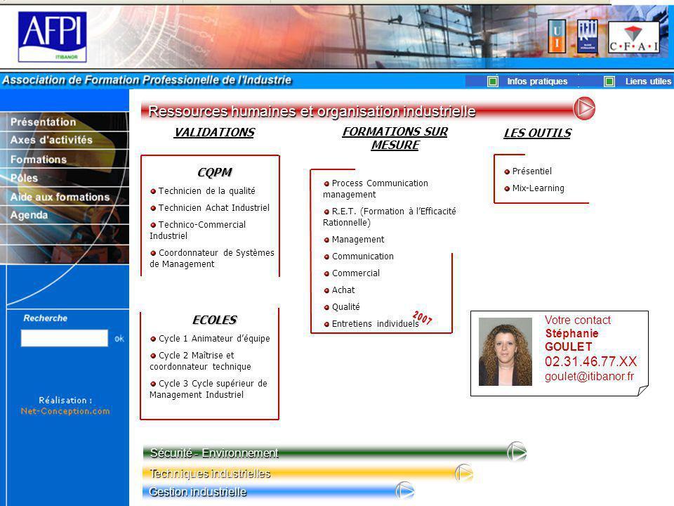 2007 Ressources humaines et organisation industrielle 02.31.46.77.XX