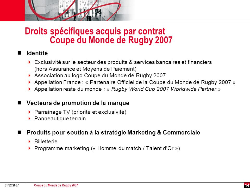 Sponsoring rugby coupe du monde de rugby ppt video - Coupe du monde de rugby en france 2007 ...