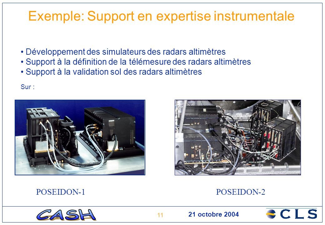 Exemple: Support en expertise instrumentale