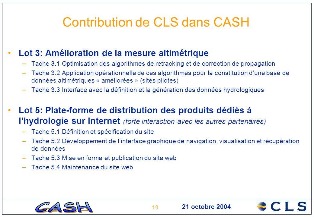 Contribution de CLS dans CASH