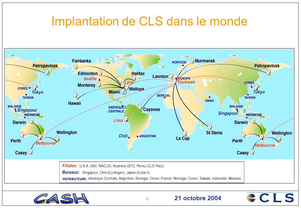 Implantation de CLS dans le monde