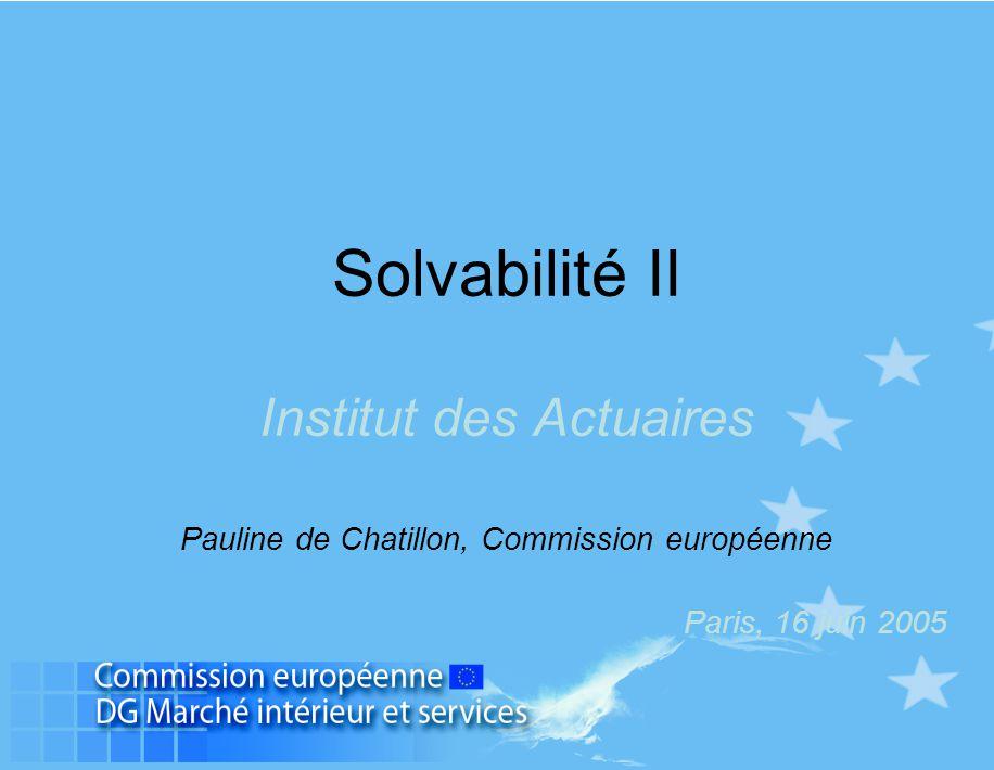Solvabilité II Institut des Actuaires