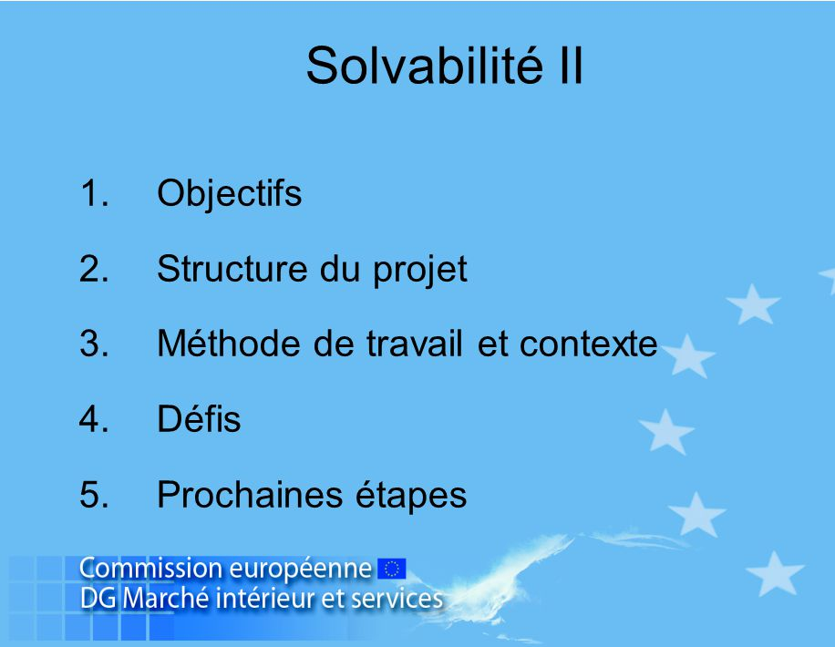 Solvabilité II Objectifs Structure du projet