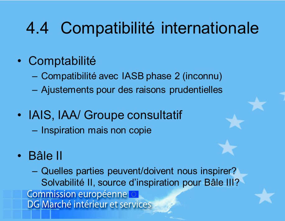 4.4 Compatibilité internationale