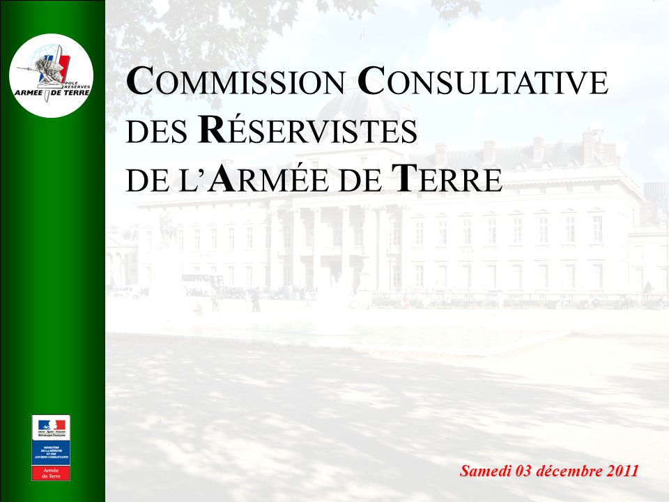 COMMISSION CONSULTATIVE