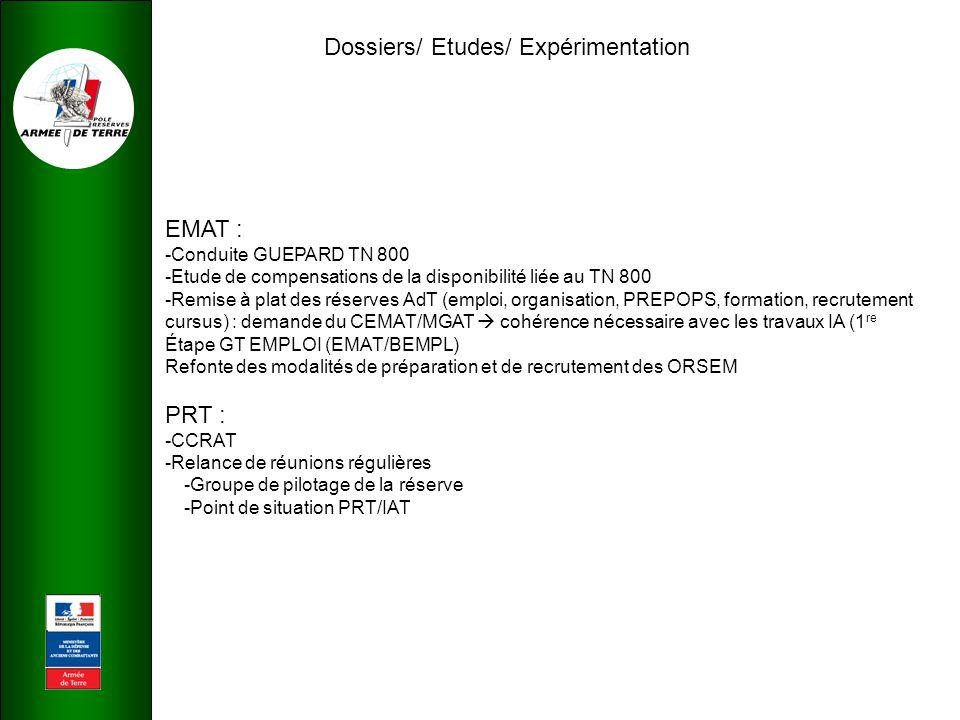 Dossiers/ Etudes/ Expérimentation