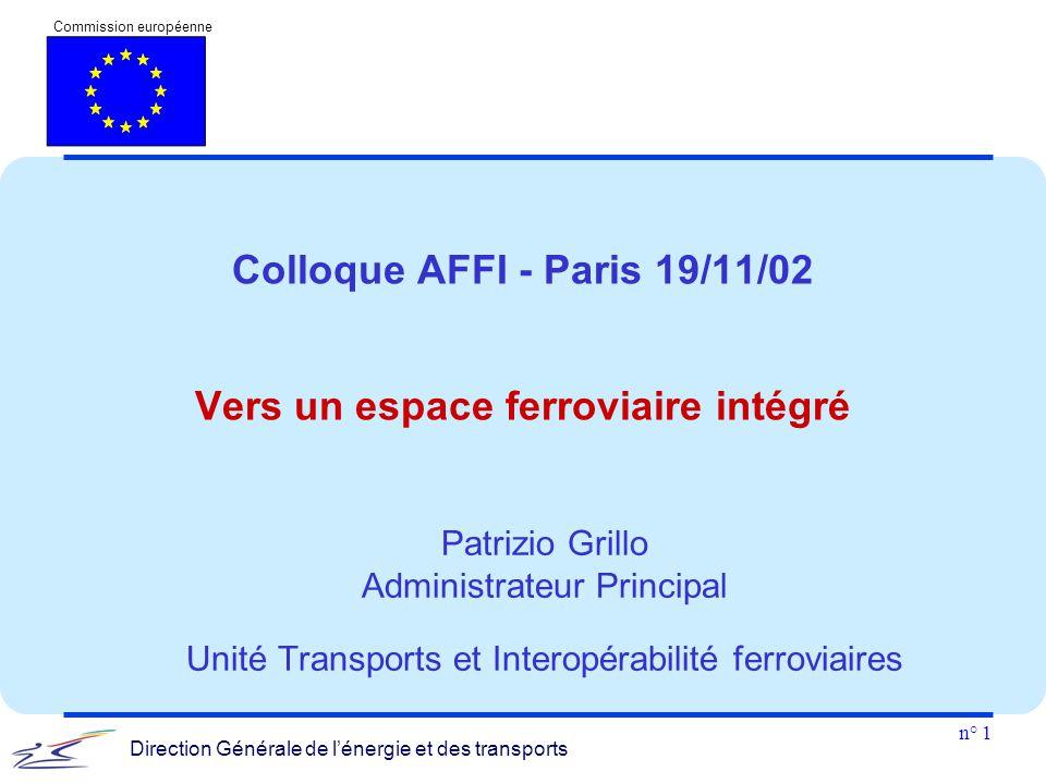 Colloque AFFI - Paris 19/11/02 Vers un espace ferroviaire intégré