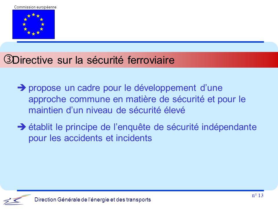Directive sur la sécurité ferroviaire