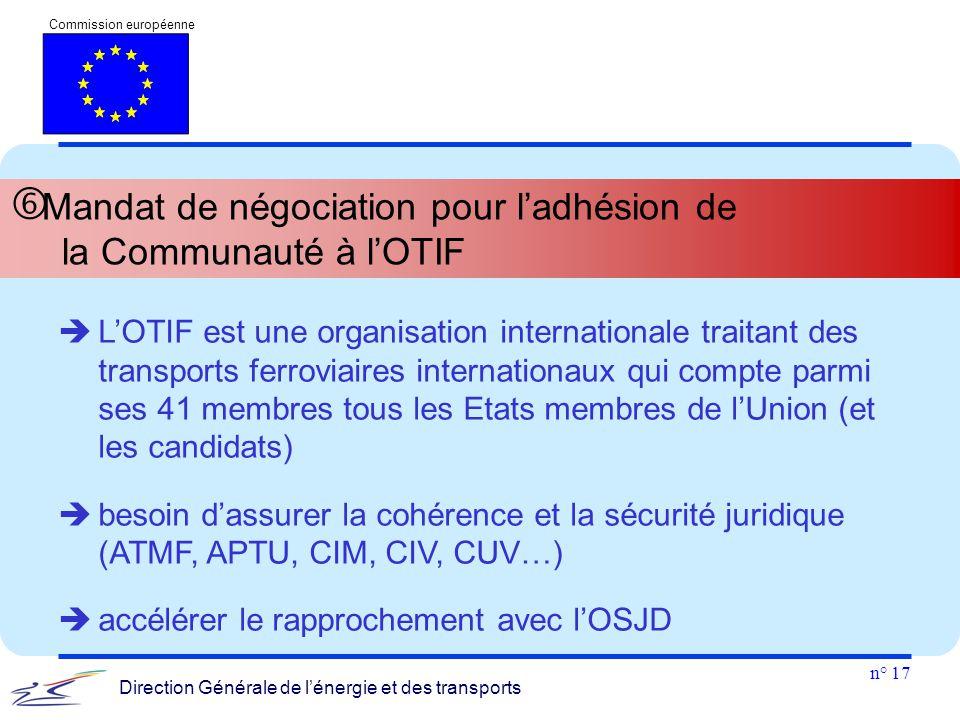 Mandat de négociation pour l'adhésion de la Communauté à l'OTIF