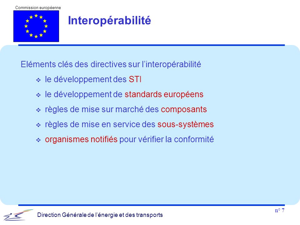 Interopérabilité Eléments clés des directives sur l'interopérabilité