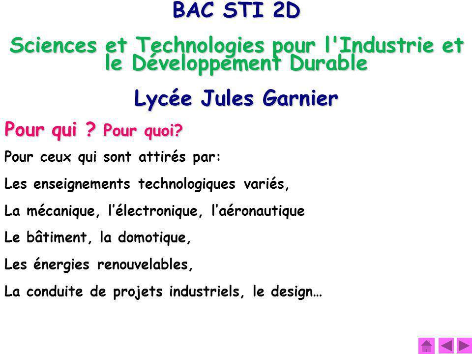 Sciences et Technologies pour l Industrie et le Développement Durable