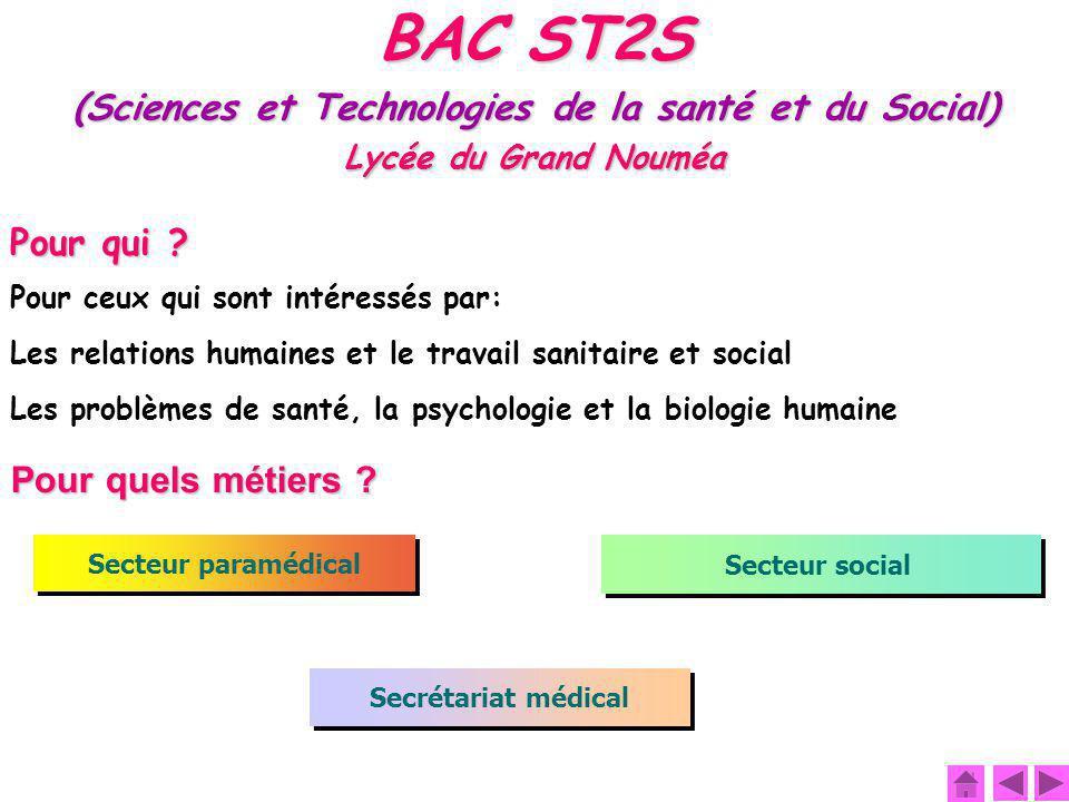 (Sciences et Technologies de la santé et du Social)
