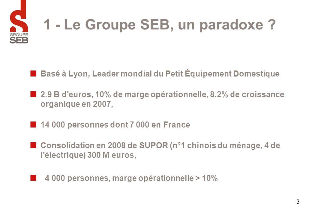 1 - Le Groupe SEB, un paradoxe