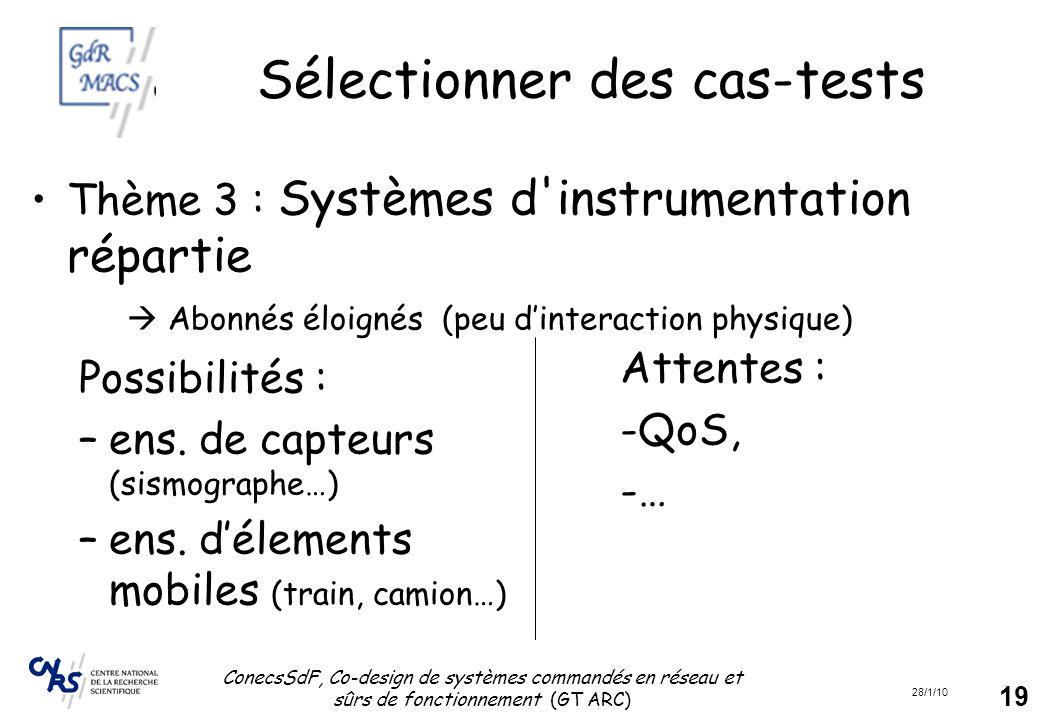 Sélectionner des cas-tests