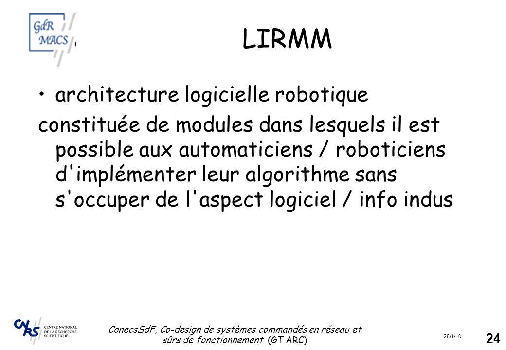 LIRMM architecture logicielle robotique