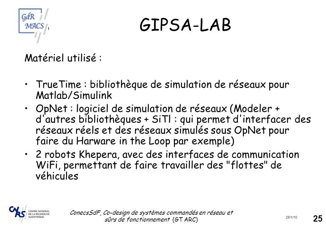 GIPSA-LAB Matériel utilisé :