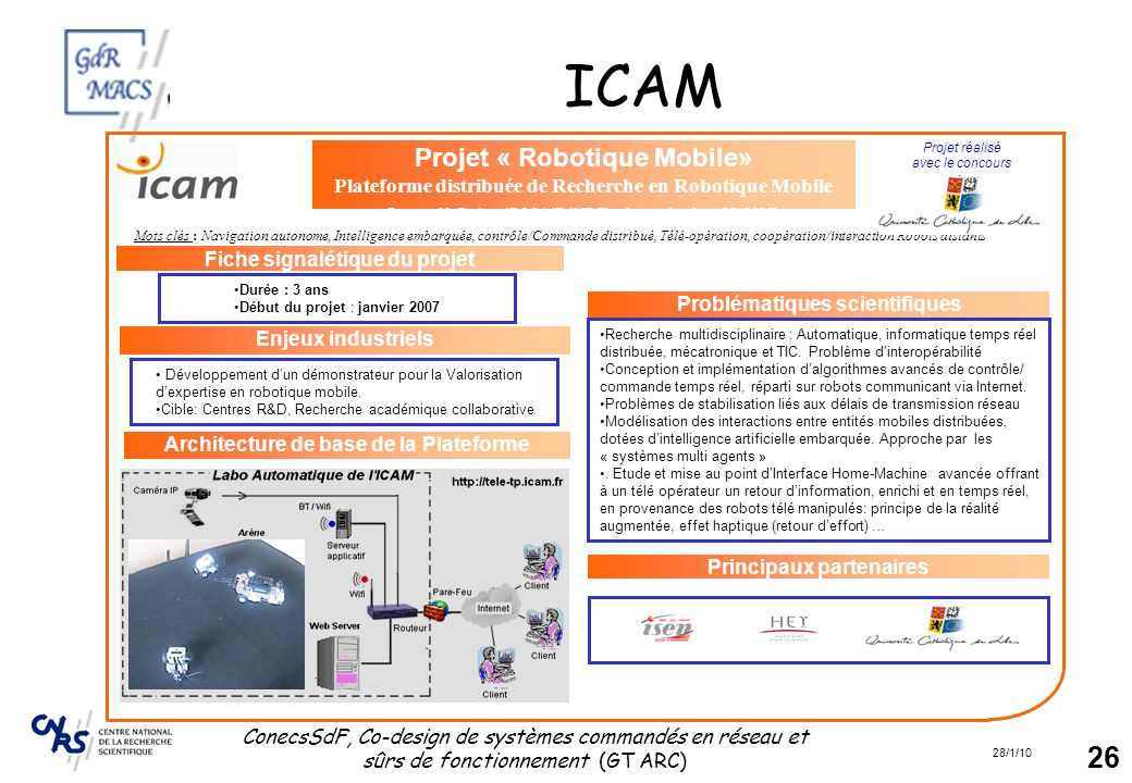 ICAM Projet « Robotique Mobile»