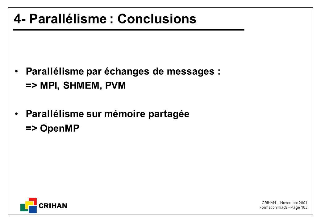 4- Parallélisme : Conclusions