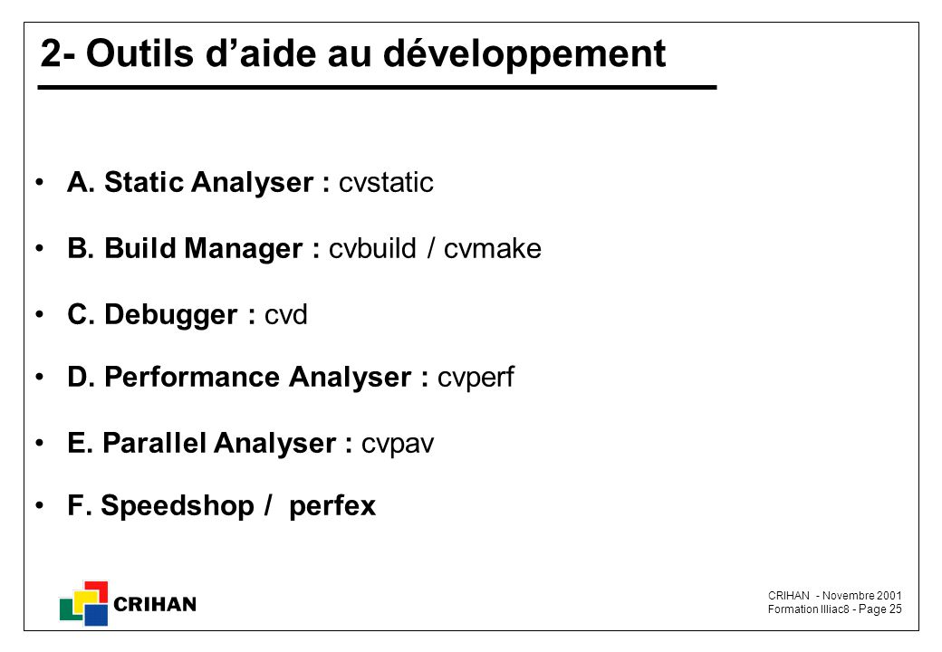 2- Outils d'aide au développement