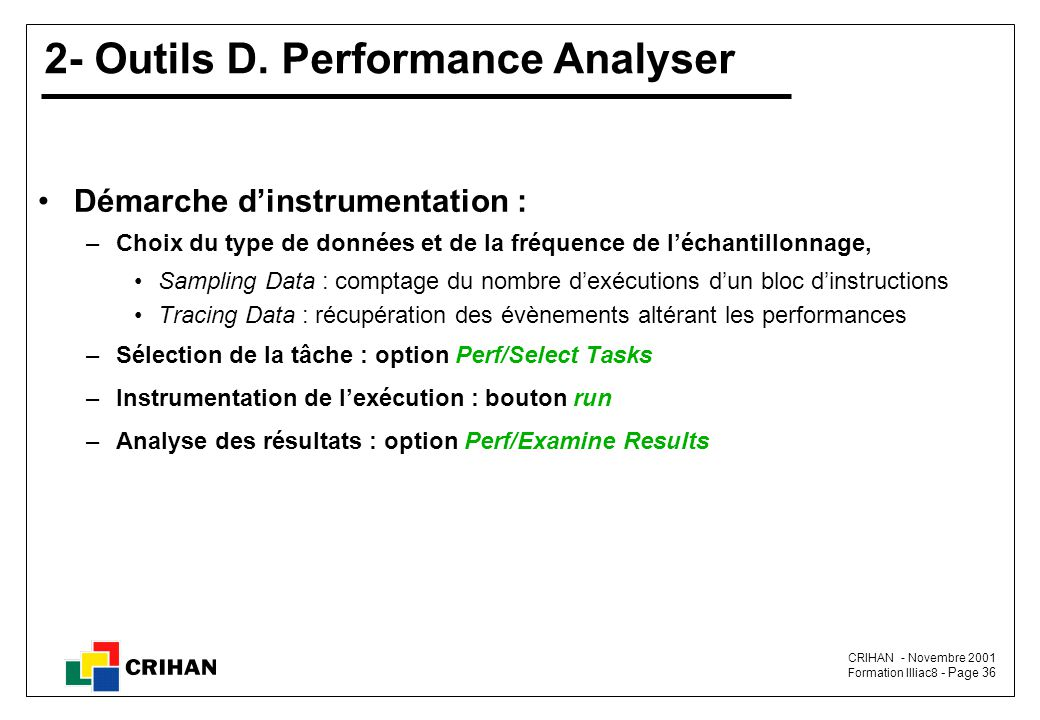 2- Outils D. Performance Analyser