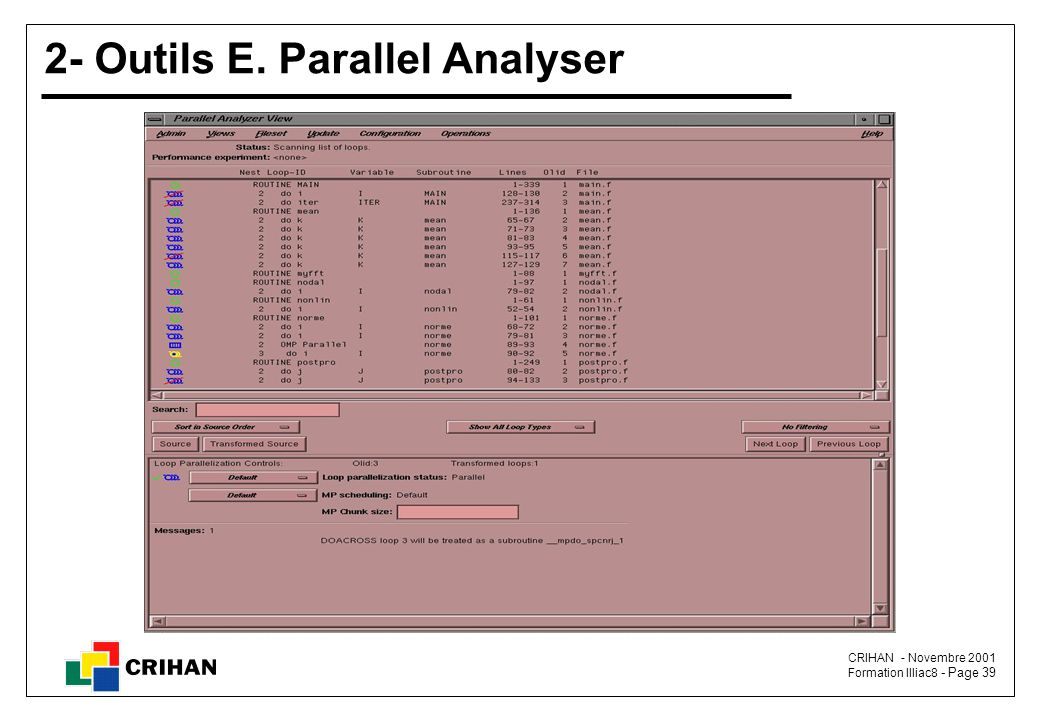 2- Outils E. Parallel Analyser