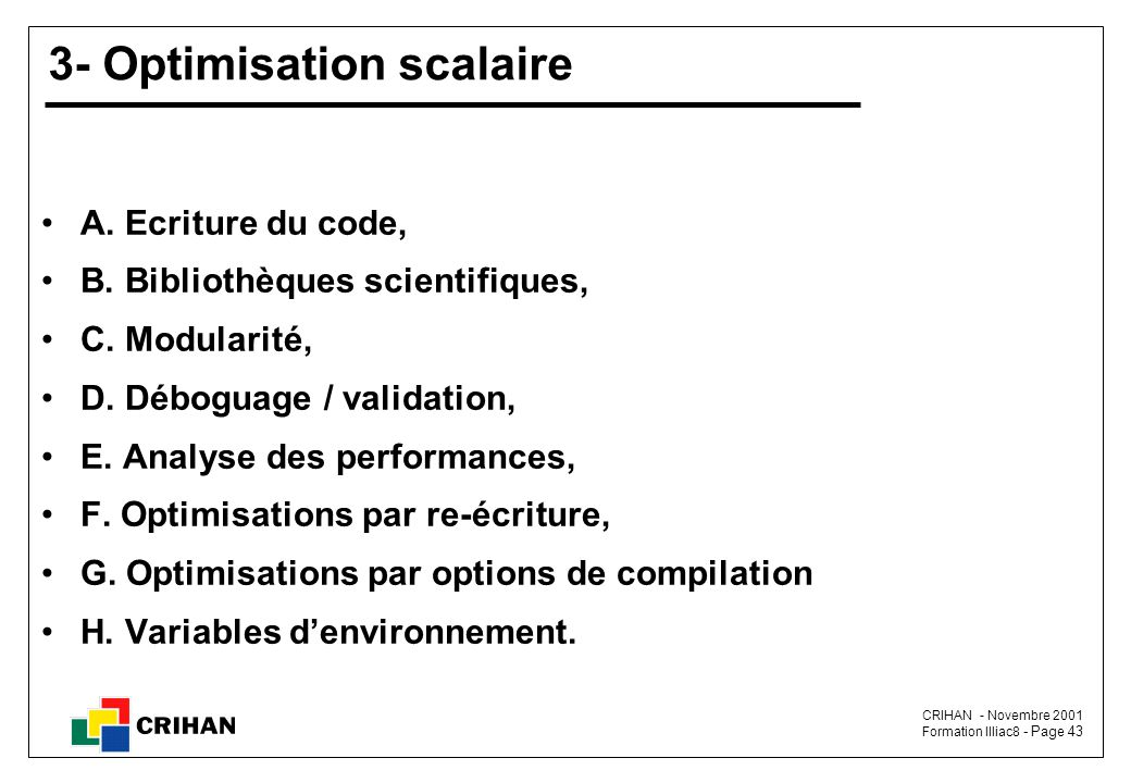 3- Optimisation scalaire