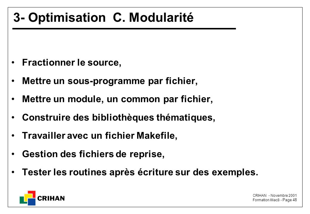 3- Optimisation C. Modularité