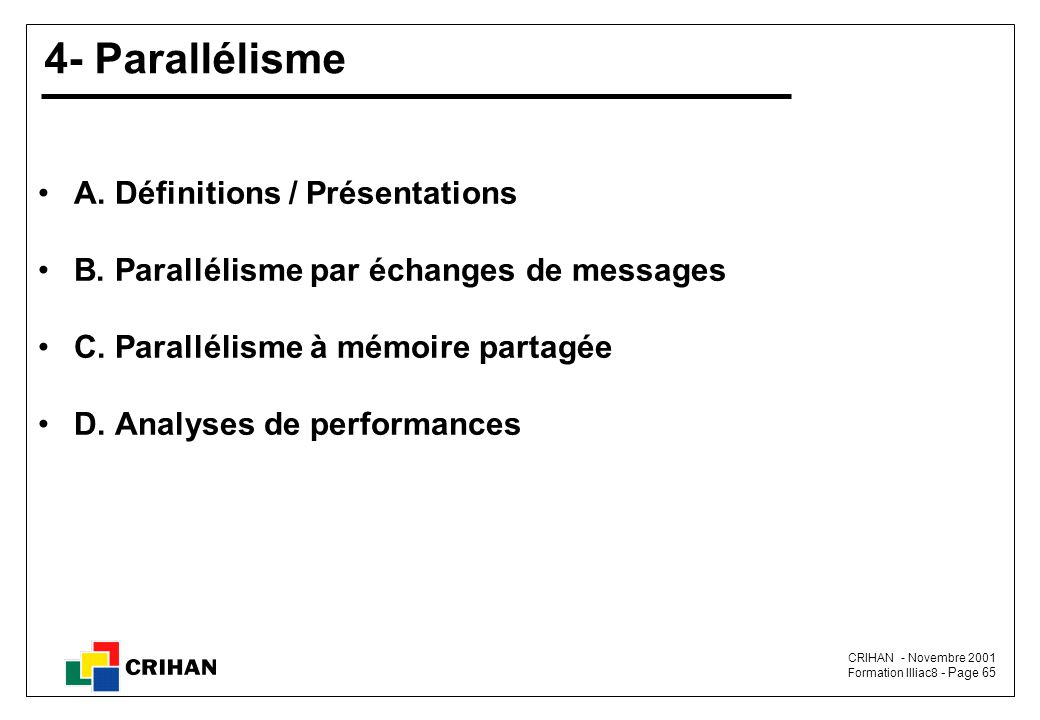 4- Parallélisme A. Définitions / Présentations