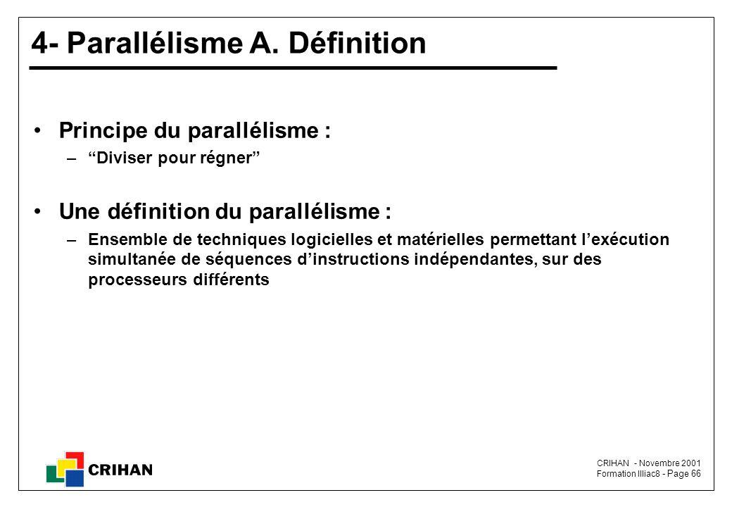 4- Parallélisme A. Définition