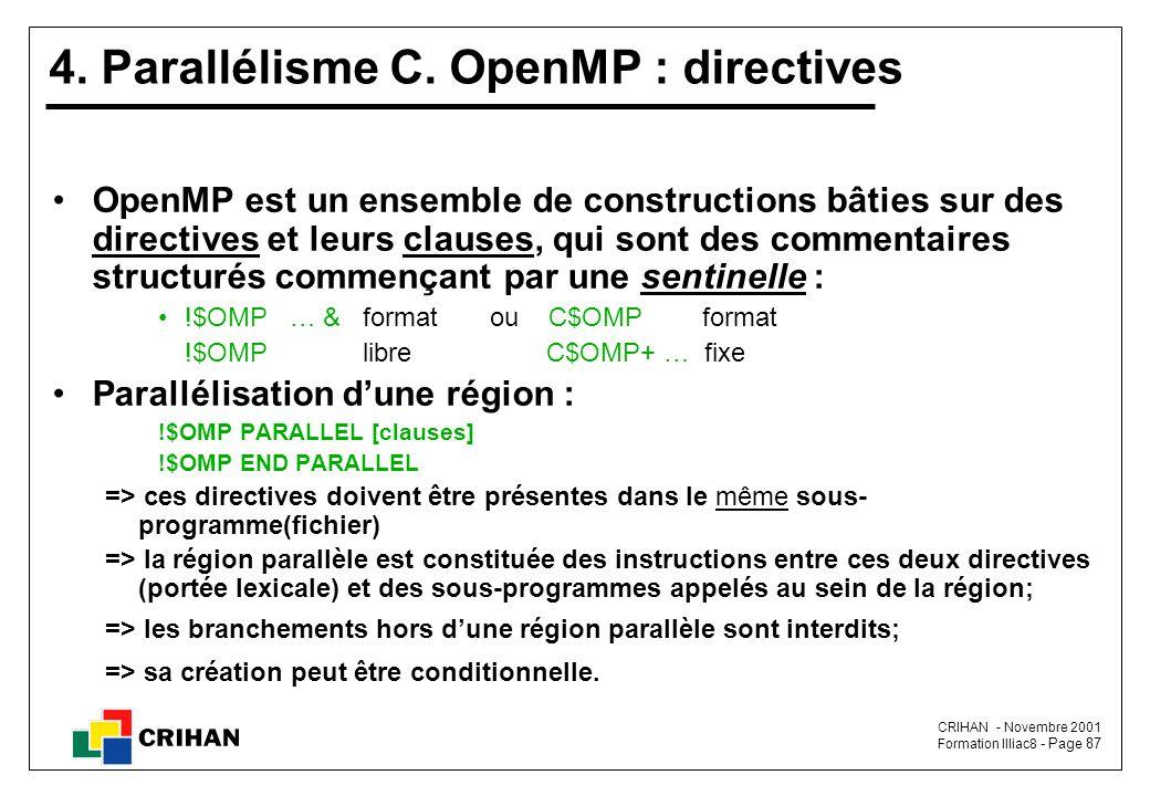 4. Parallélisme C. OpenMP : directives