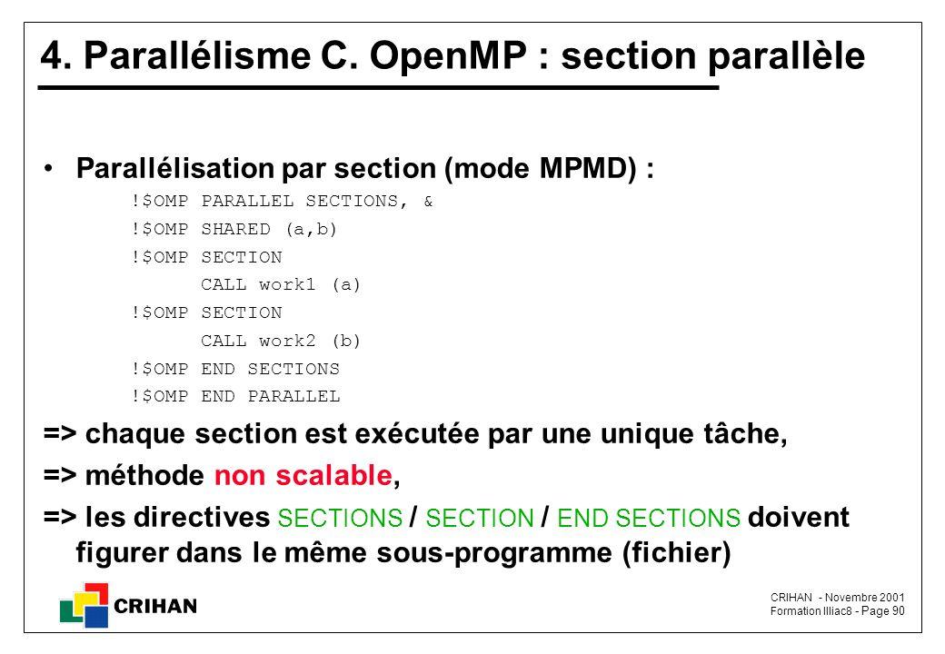 4. Parallélisme C. OpenMP : section parallèle