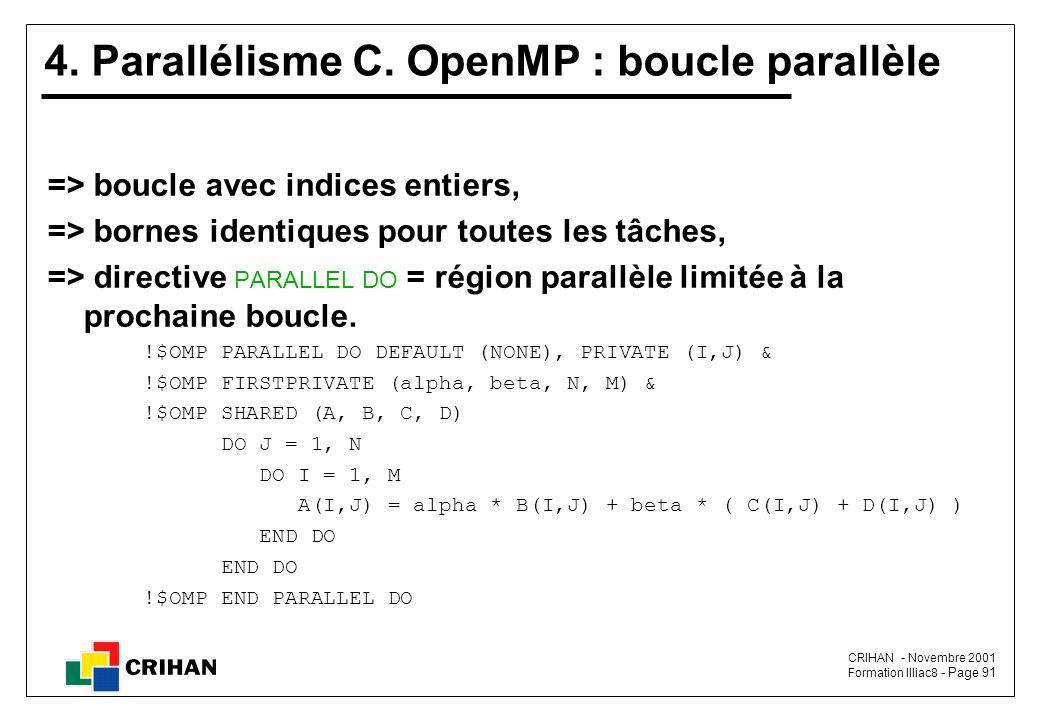 4. Parallélisme C. OpenMP : boucle parallèle